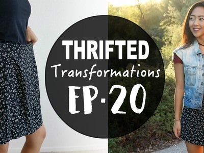 Thrifted Transformations   Ep. 20 DIY Asymmetrical Skort