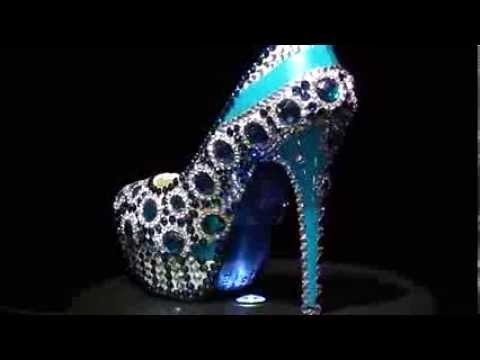 840001 Diy wedding shoes show:crystal shoes for women designed by chinese
