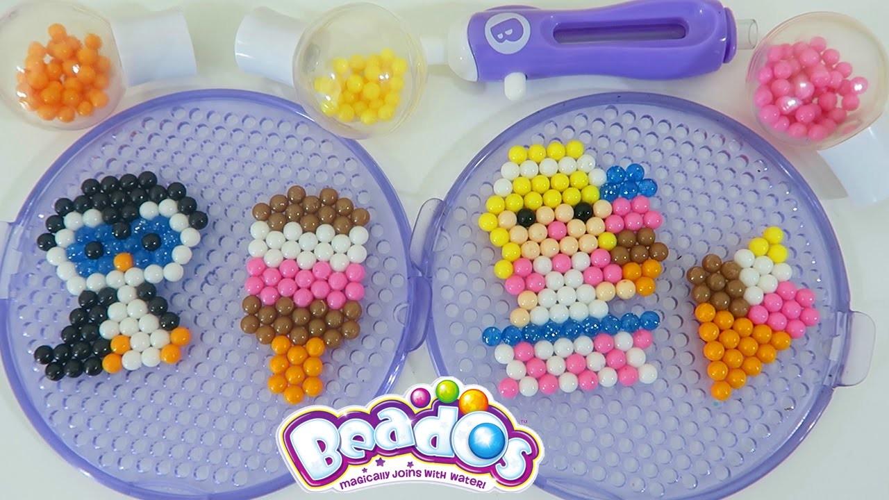 Beados Ice Cream Treats GLITTER Beads Playset | Easy DIY Make Your Own Magic Sparkly Beads!