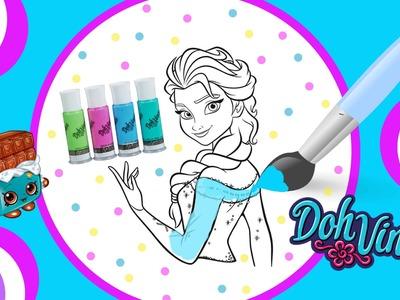 Color Your Own Disney Frozen Elsa Picture DIY DohVinci PlayDoh Crayola Paint Plus 5000 Sub Winner