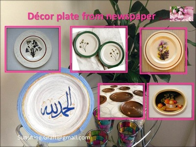 D.I.Y- Decore Plate from newspaper