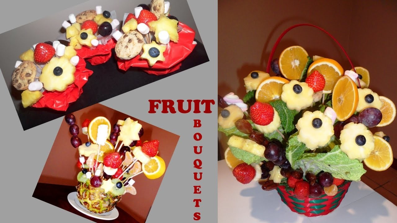 D.I.Y. Edible Fruit Bouquets and Mini Fruit and Chocolate Arrangements