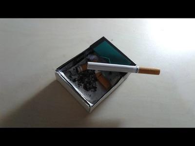 DIY Ashtray from cigarette packs