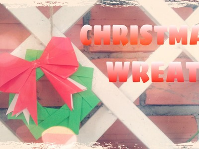 DIY Christmas Ornament - Christmas Wreath with Paper