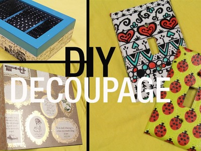 DIY Decorative Jewelry Boxes, Switch Plates, & Book Holders