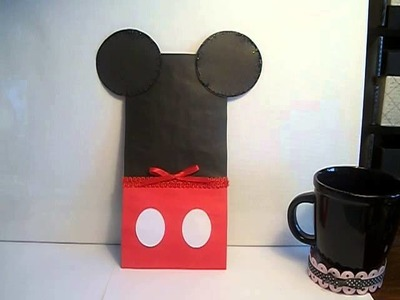 DIY Disney easy Mickey Mouse gift party treat bags