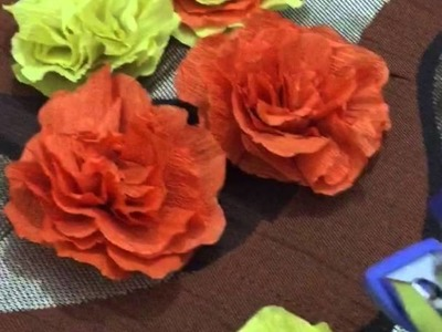 DIY Diwali decoration - paper flower