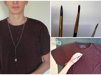 DIY: Easy Bleached T-shirt (Dotted)