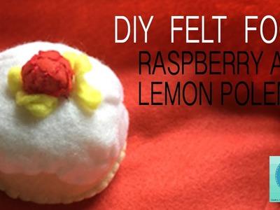 DIY Felt Food: Raspberry and Lemon Polenta Cake