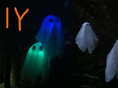 DIY Ghosts - Glow in The Dark And a Simple Variation - Halloween 2015 #8