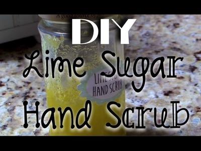 DIY Lime Sugar Hand Scrub