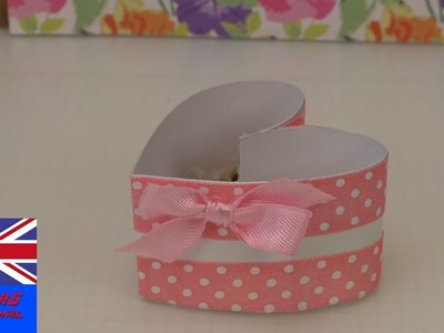 DIY Paper box making - How to fold a heart shape box - Paper Heart Box (easy tutorial)