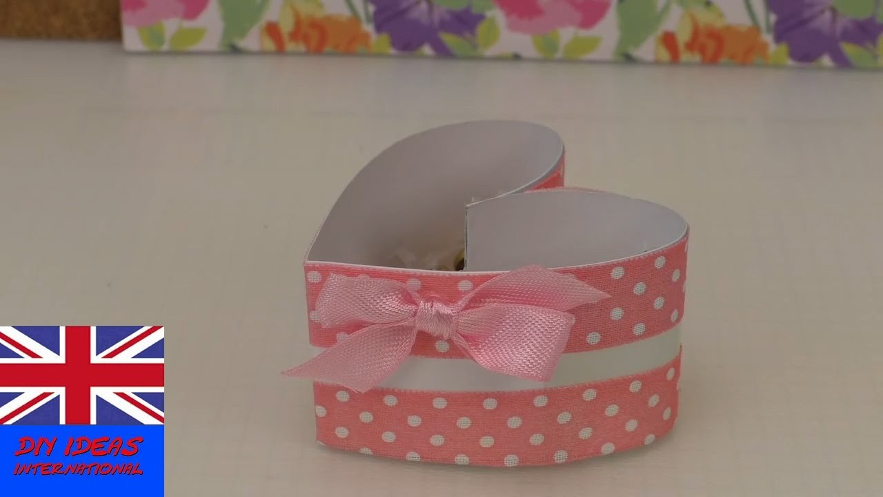 DIY Paper box making - How to fold a heart shape box - Paper Heart Box (easy tutorial)