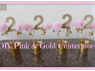 DIY Pink & Gold Centerpiece