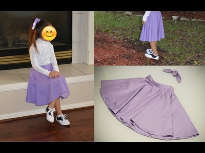 DIY Poodle Skirt, Minus the Poodle, and Matching Hair Sash