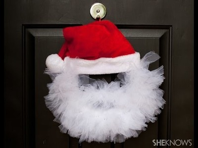 DIY Santa Wreath!