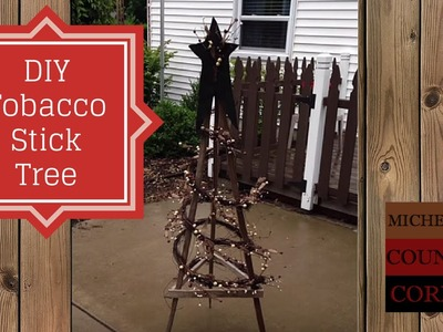 DIY Tobacco Stick Tree - Easy Project
