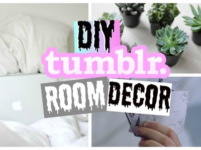 DIY TUMBLR ROOM DECOR!! 2015 + FREE VIDCON TICKET + GIVEAWAY
