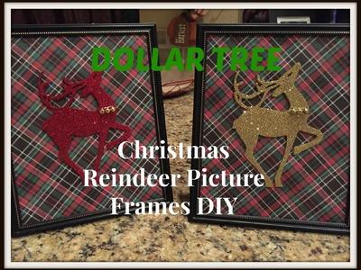 DOLLAR TREE Christmas Reindeer Picture Frames DIY - PLAID WEEK!!