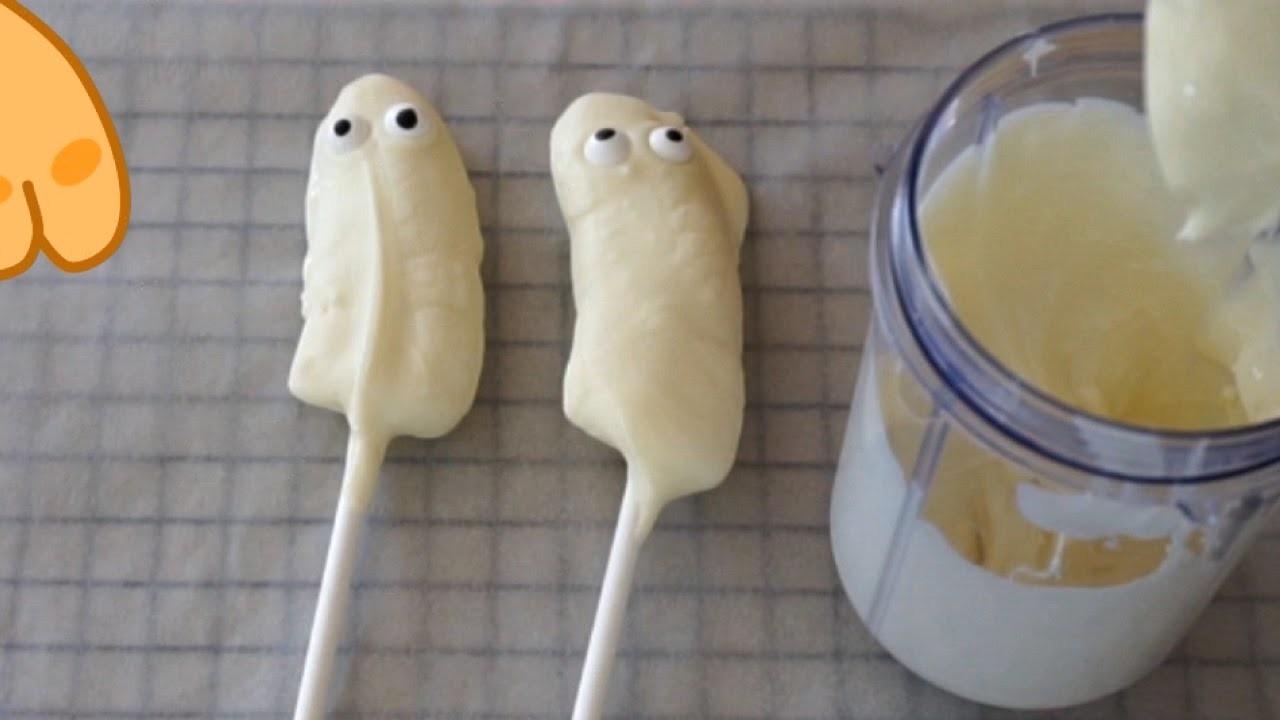 Frozen Booonana Banana Pops for Halloween - DIY Recipes for Kids