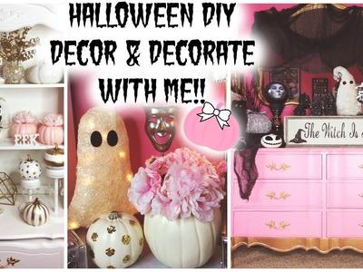 HALLOWEEN DIY DECOR & DECORATE WITH ME! ♡