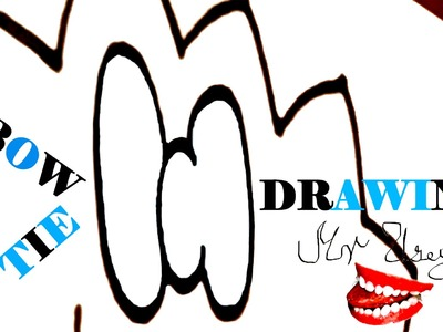 How to draw a BOW TIE Step by Step EASY-cartoon BOW TIE, draw easy stuff but cool with markers