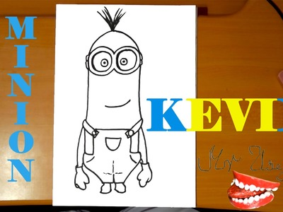 How to draw a MINION Kevin Easy from DESPICABLE ME 2,draw easy stuff but cool on paper|SPEED ART