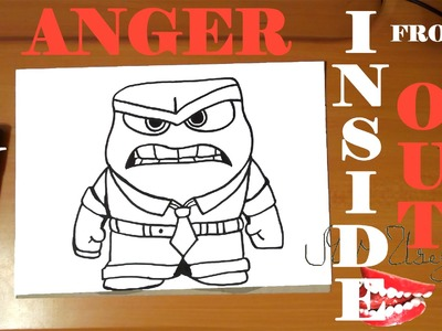 How to draw ANGER from INSIDE OUT characters Disney Easy,draw easy stuff but cool,SPEED ART