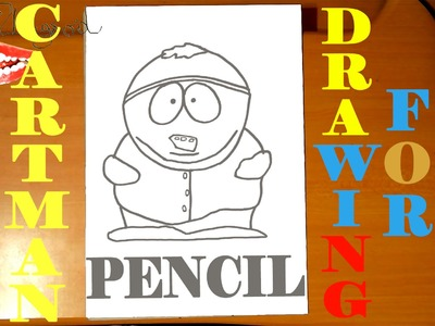 How to draw ERIC CARTMAN from SOUTH PARK characters Easy,draw easy stuff, PENCIL, SPEED ART