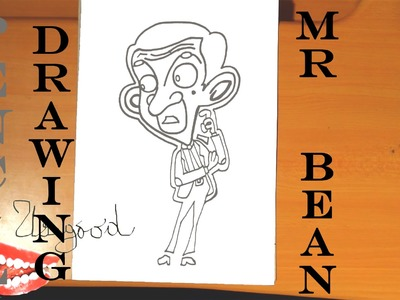 How to draw MR BEAN Animated Cartoon EASY | draw easy stuff but cool, PENCIL | SPEED ART
