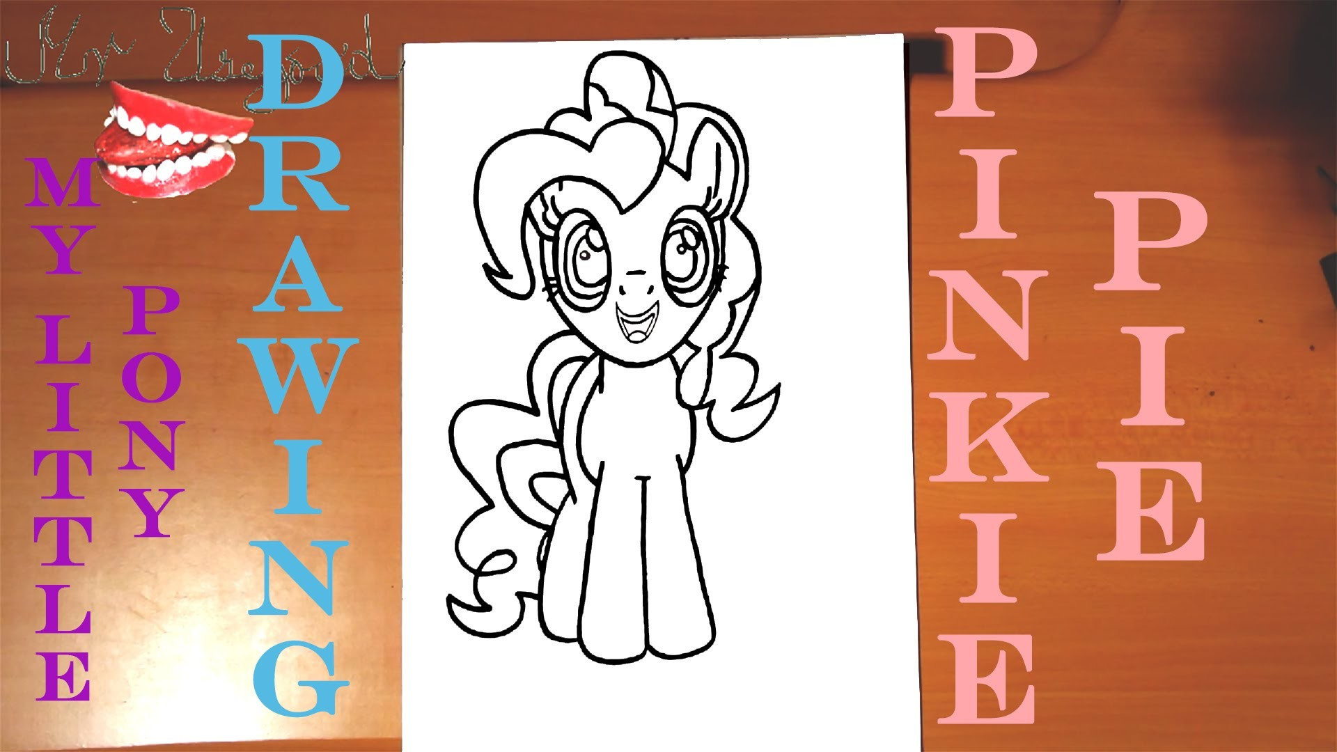 How to draw PINKIE PIE from MY LITTLE PONY Easy, draw easy stuff but cool on paper, SPEED ART