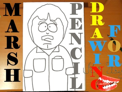 How to draw RANDY MARSH from SOUTH PARK characters Easy,draw easy stuff,PENCIL,SPEED ART
