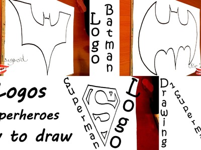 How to draw SUPERHEROES Logos - Batman vs Superman Step by Step Easy | draw easy stuff but cool