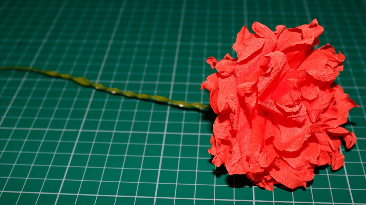 How to make a Crepe Paper Flower (Carnation Flower)