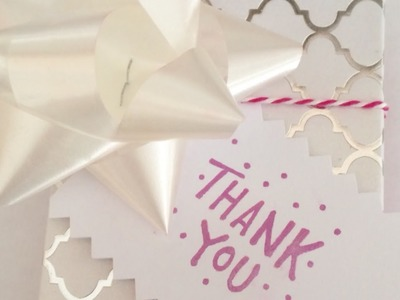 Make a Simple Thank You Gift Tag - DIY Crafts - Guidecentral