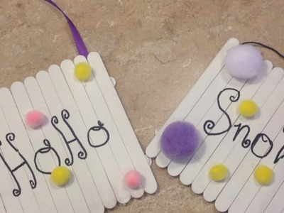 Make Cute Popsicle Stick Christmas Ornaments - DIY Home - Guidecentral