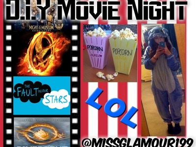 MOVIE NIGHT-  D.I.Y Snacks,Movies,Outfits and Decor :)