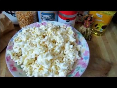 Perfect DIY Microwave Popcorn- with Cheese!