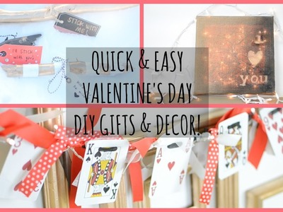 Quick & Easy Valentine's Day DIY Gifts!