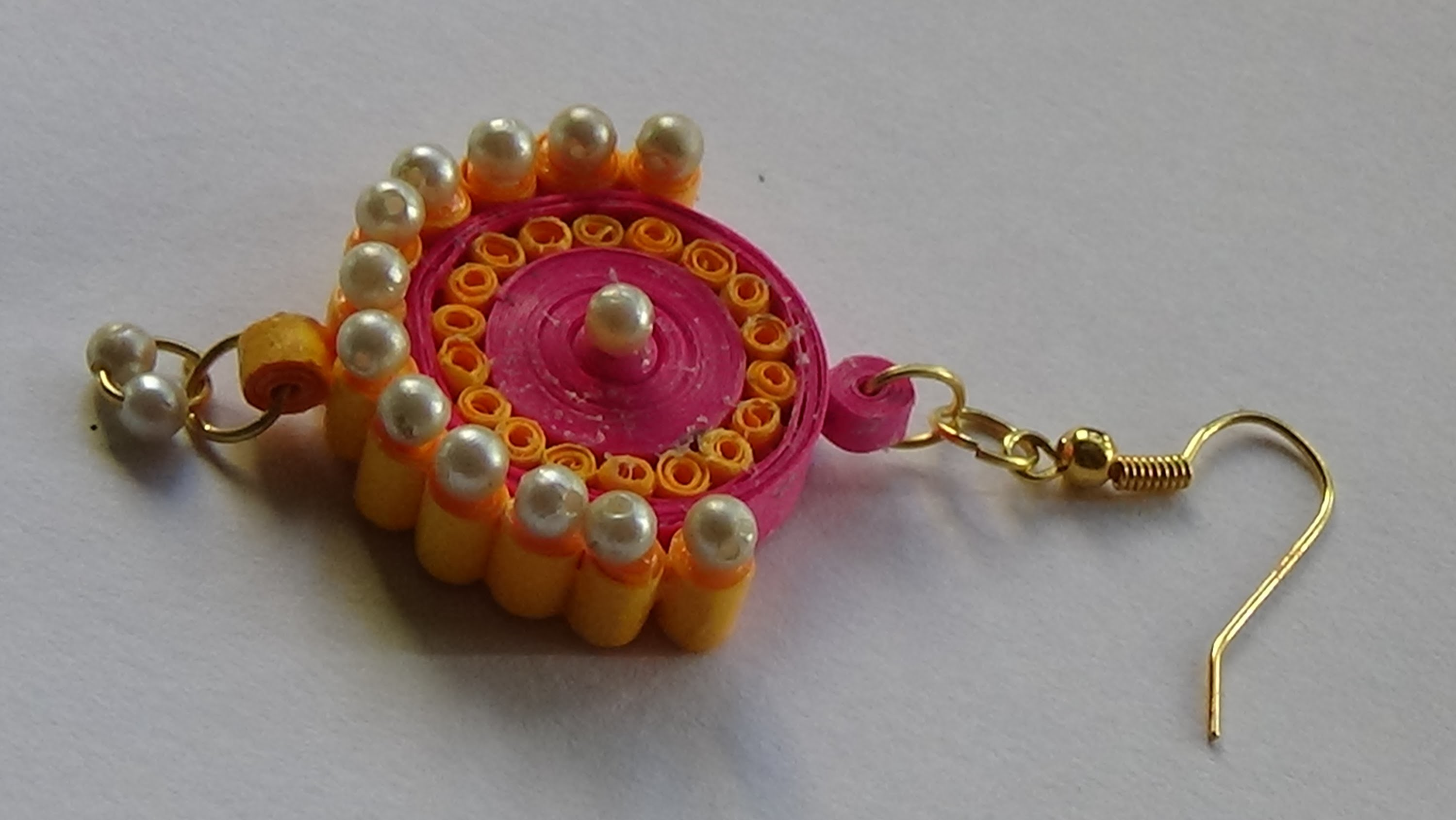 Quilling Paper Jewellery Ear Ring Tutorial My