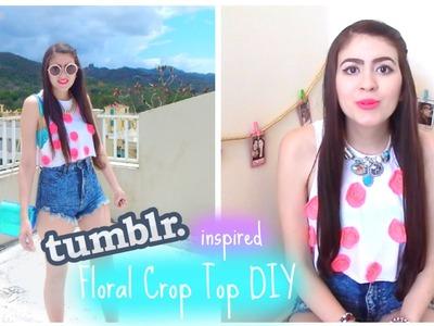 Tumblr Inspired Floral Crop Top DIY