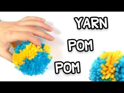 Yarn Pom Poms DIY