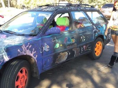 A Tour of my Chalkboard Art Car!
