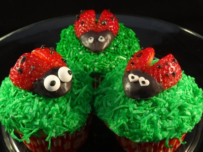 Decorating Cupcakes #126: Ladybugs -with yoyomax12