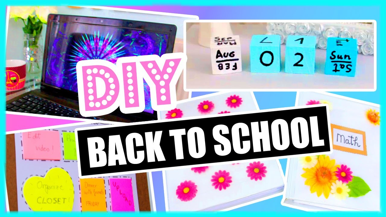 DIY Back To School! DIY Organization, Binder Decorations & More! DIY supplies