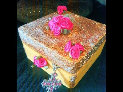 DIY Beauty and the Beast Belle inspired jewelry box ♥