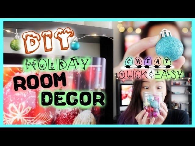 DIY: Easy &Affordable Holiday Room Decor! | Emily Dao 2014