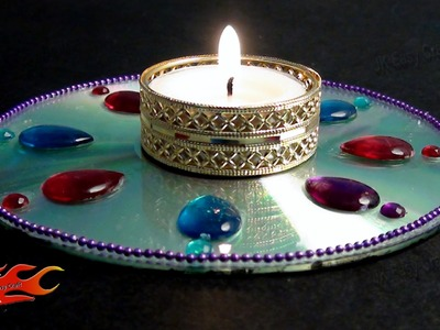 DIY Easy CD DVD Candle Holder| How to make |JK Easy Craft 059
