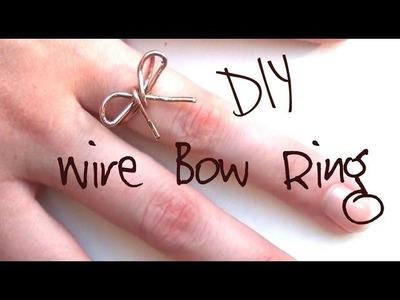 DIY Fashion ♥ Rustic Wire Bow Ring