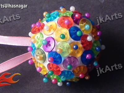 DIY How to make Christmas Decoration ornament From Buttons - JK Arts 391